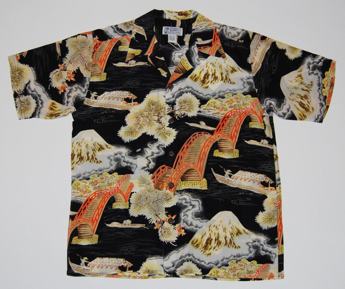 アロハシャツ A1203BLK