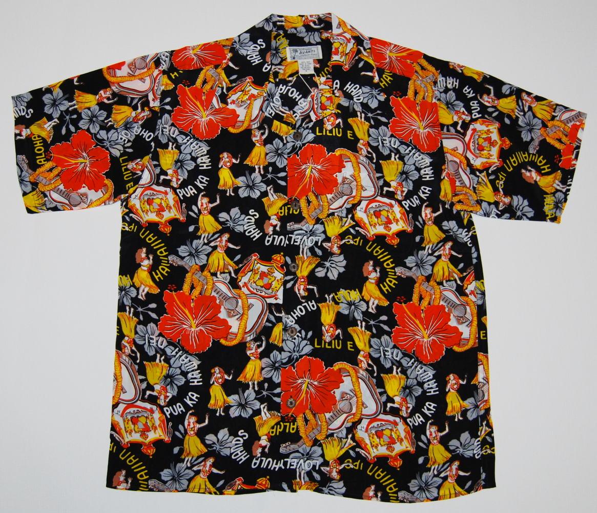 アロハシャツ A1213BLK