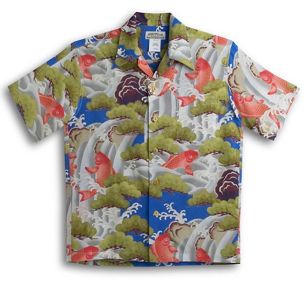 アロハシャツ AMT054BL